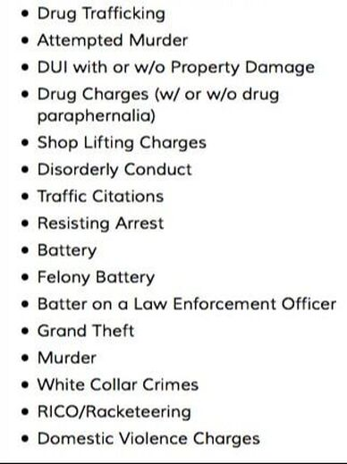 Felonies, Misdemeanors and Crimes
