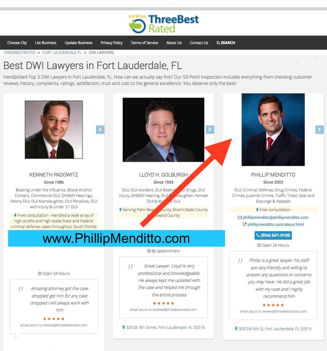 PTop 3 Best Rated Dui Lawyers Fort Lauderdale